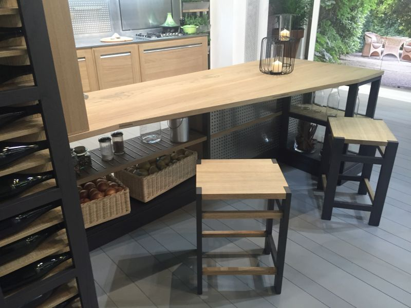 Wood countertop kitchen island table