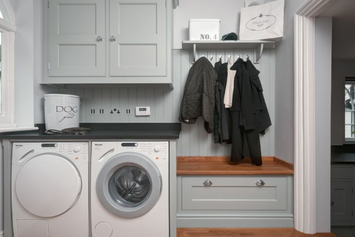 coat rack and laundry room