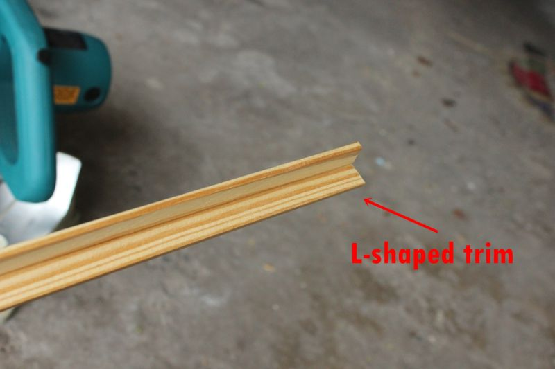 shelf is a solid wood board