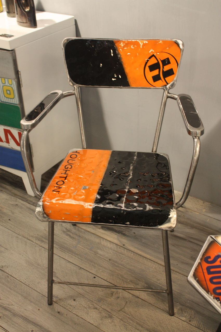 For those who prefer their furniture to be artful, this chair by Vibrazioni Art Design is perfect. The Italian artists create signed and numbered furnishings, accessories and motorbikes (!) from reclaimed oil drums. A set of the dining chairs would be a unique and artistic seat collection for any dining room.