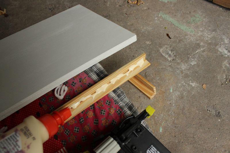 wood glue in the inner corner