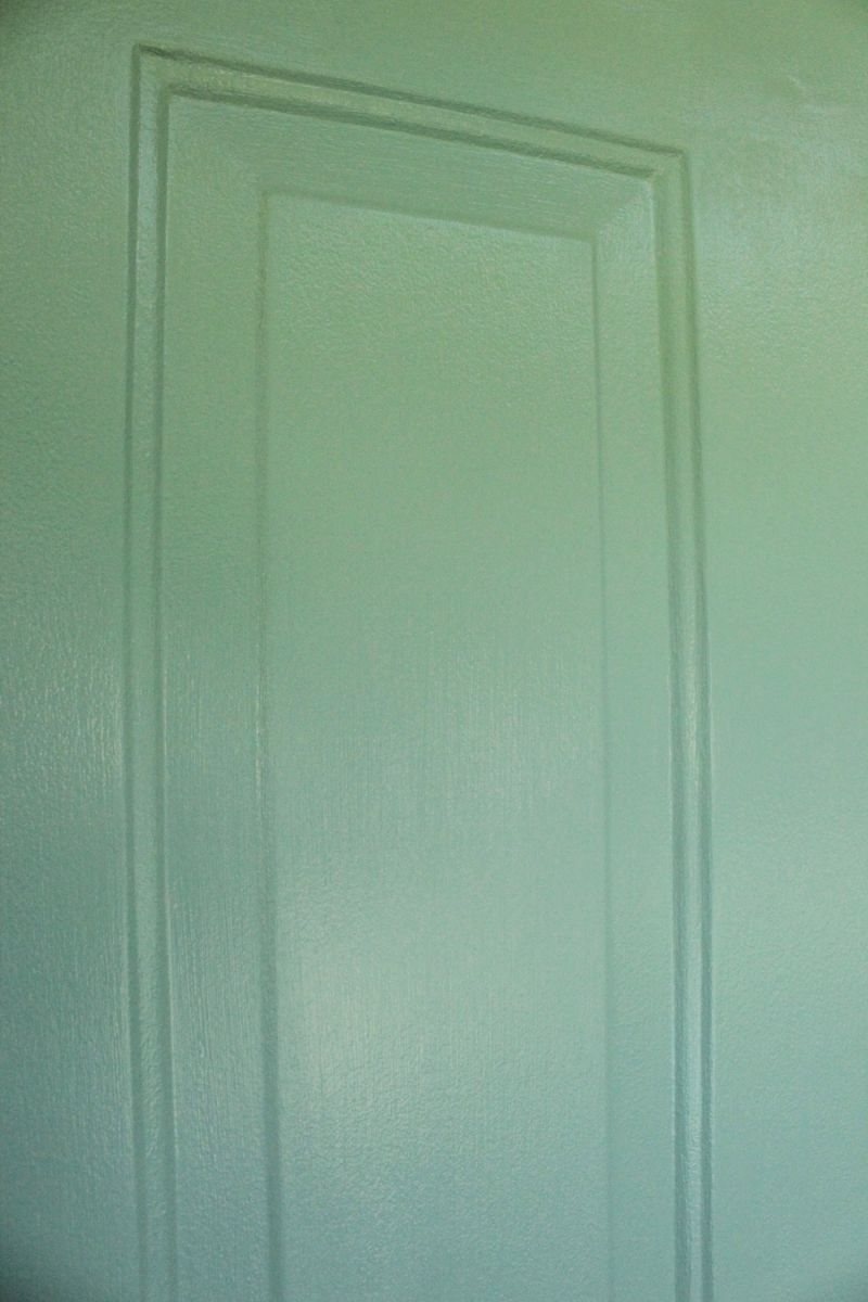 Closer picture with painted door