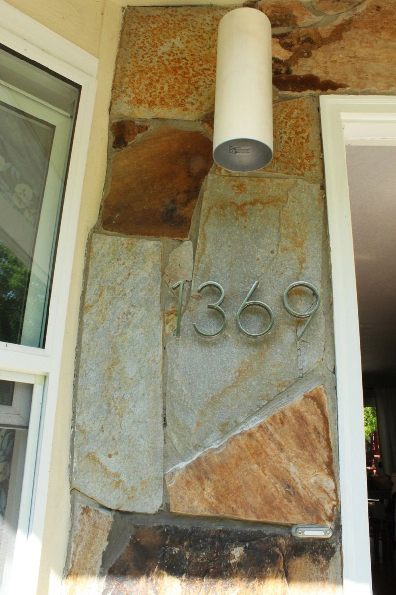 Contemporary house numbers
