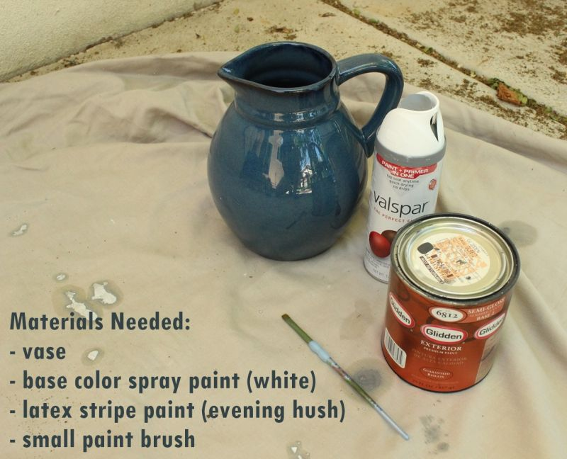 DIY Hand Painted Striped Vase- materials