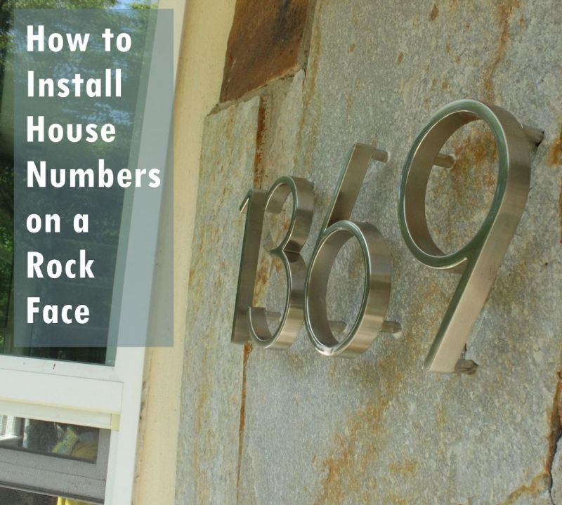 How to Mount Modern House Numbers on a Rock Face DIY Install House Numbers