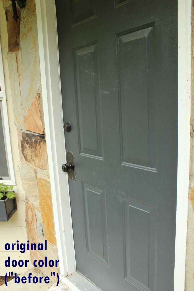 DIY Paint Front Door-before painting process
