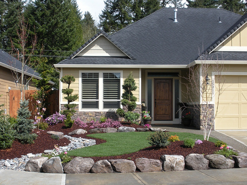 Home Landscaping Ideas To Inspire Your Own Curbside Appeal on Rocks In Backyard  id=46443