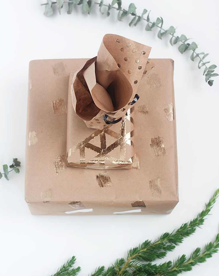Gold foil wrapping