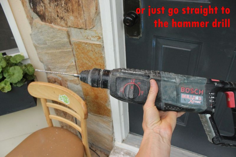 Hammer drill in action