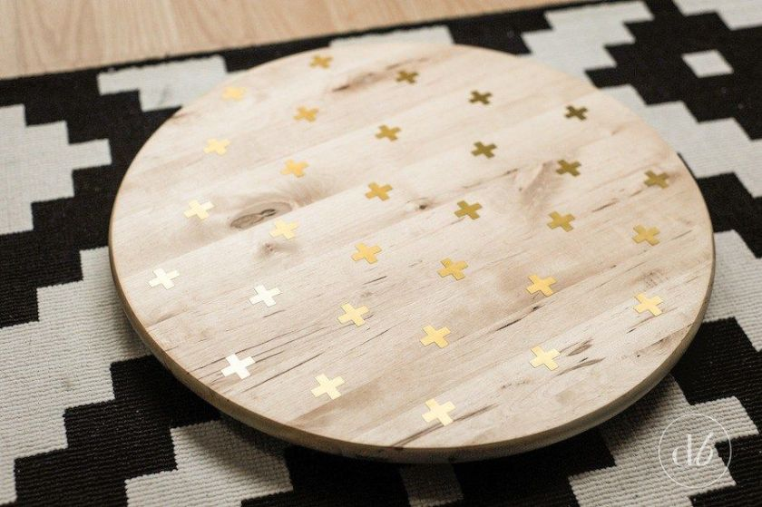 Lazy susan with gold foil