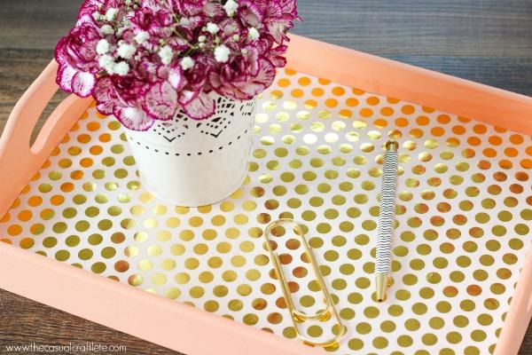 Luxury elegant serving tray