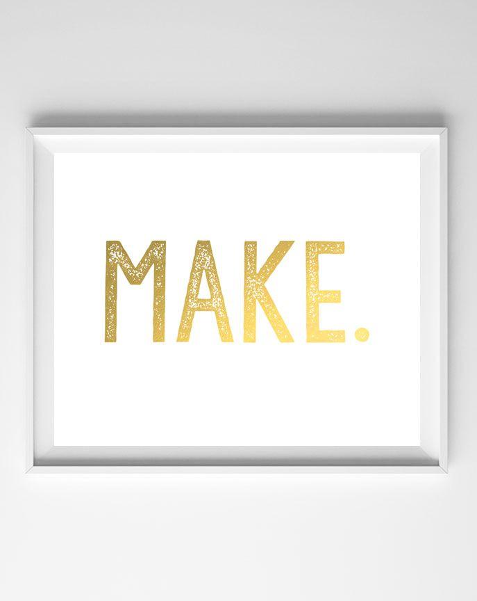 Make gold foil printable