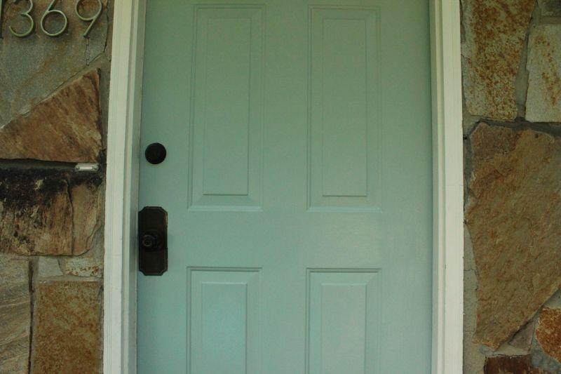 Modern painted front door