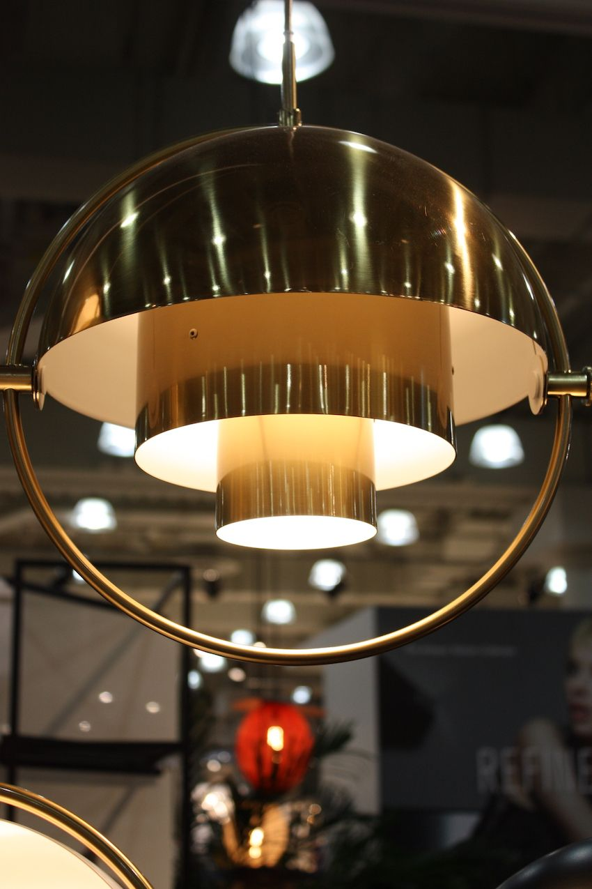 As a downward facing pendant the Multi Light takes on a totally different look and is well suited to be hung over a dining table.