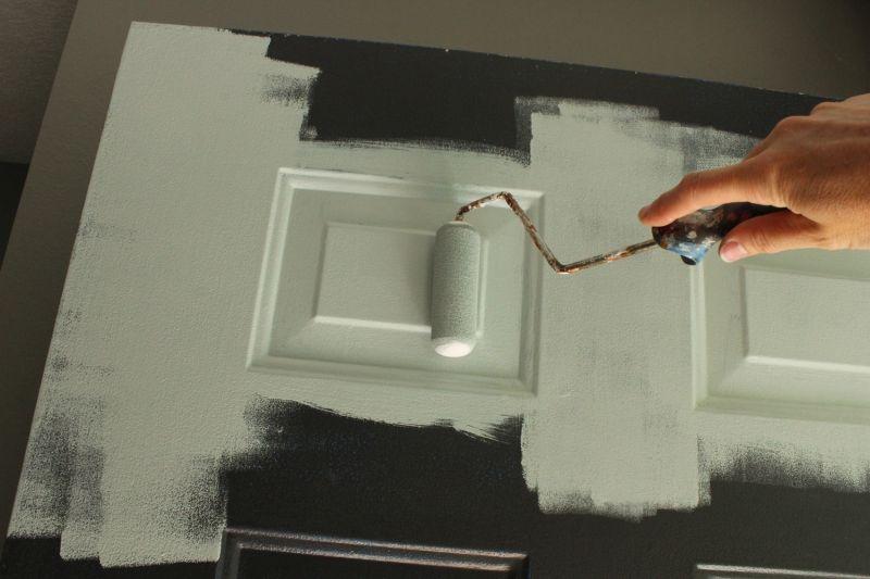 Paint inside door panel