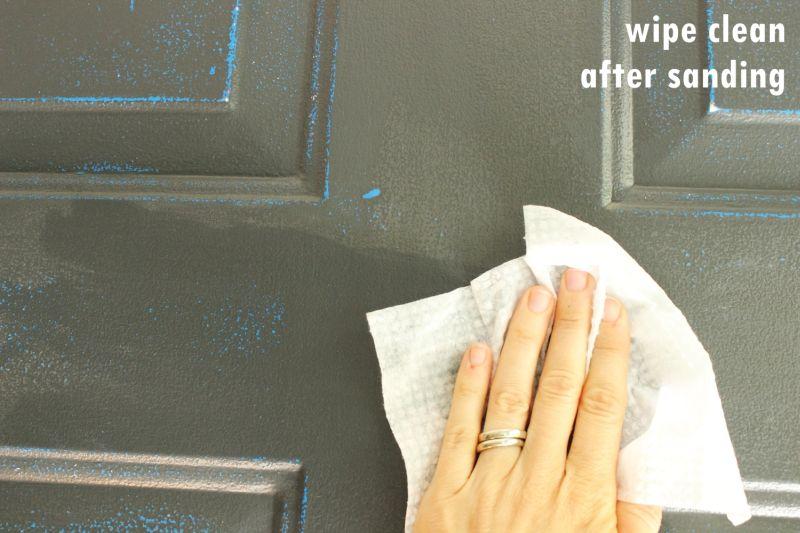 Wipe down the door