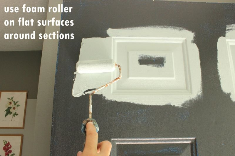 use foam roller on flat surface around sections