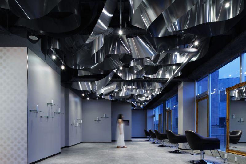 ARKHE Beauty Salon with an impressive ceiling