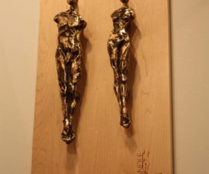 "These are ""Adam"" and ""Eve"" door pulls. Folwell has created pieces that are in private collections nationwide, including the Denver Art Museum, Pro Football Hall of Fame, Vail Resorts and Silver Oak Cellars."
