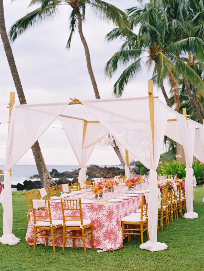 Beach style wedding tent