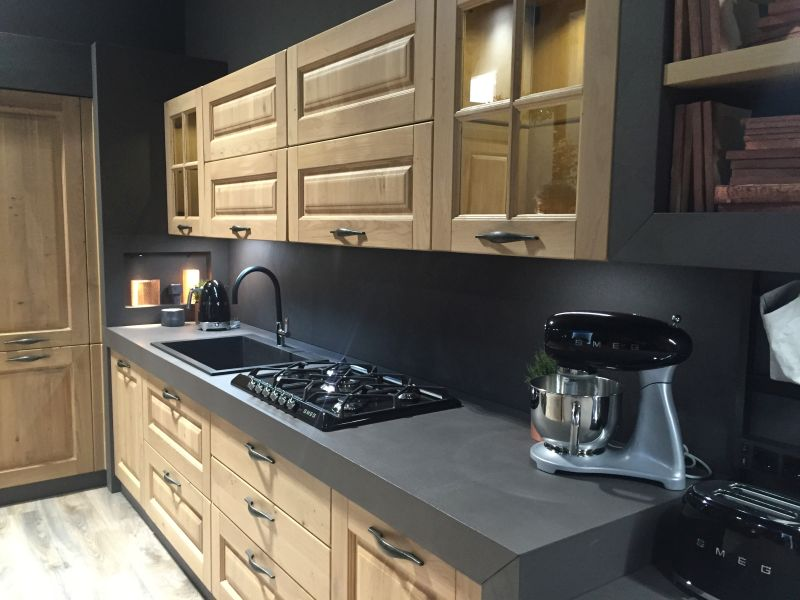 Drama And Elegance Reflected In A Black Kitchen Countertop on Kitchen Backsplash With Black Countertop  id=41418