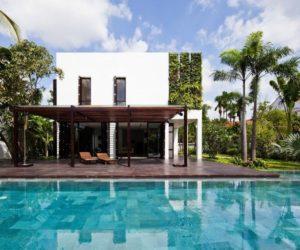 u shaped pool house plans