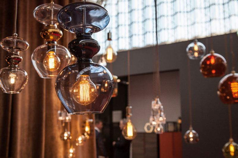 EBB & FLOW hanging lighting with led edison bulbs