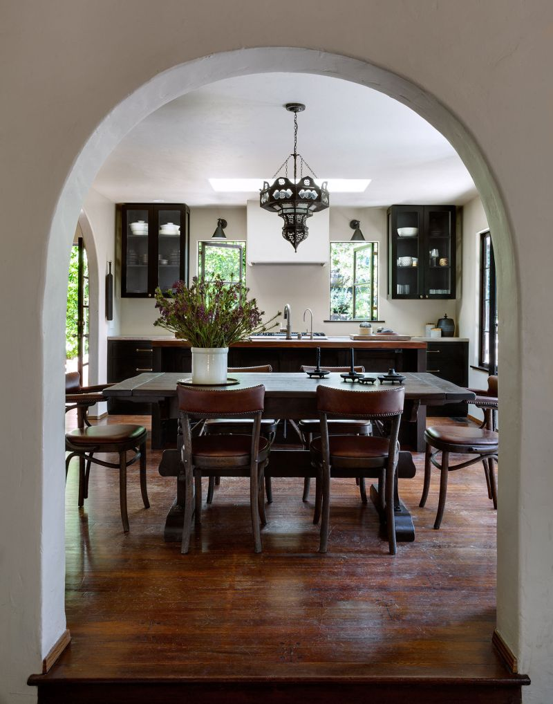 Kitchen and dining room design with a spanish feel