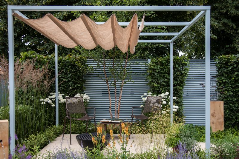 Outdoor space with sun protection