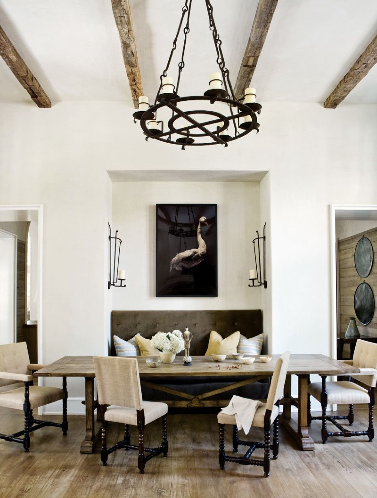 Popular dining room area in Spanish homes