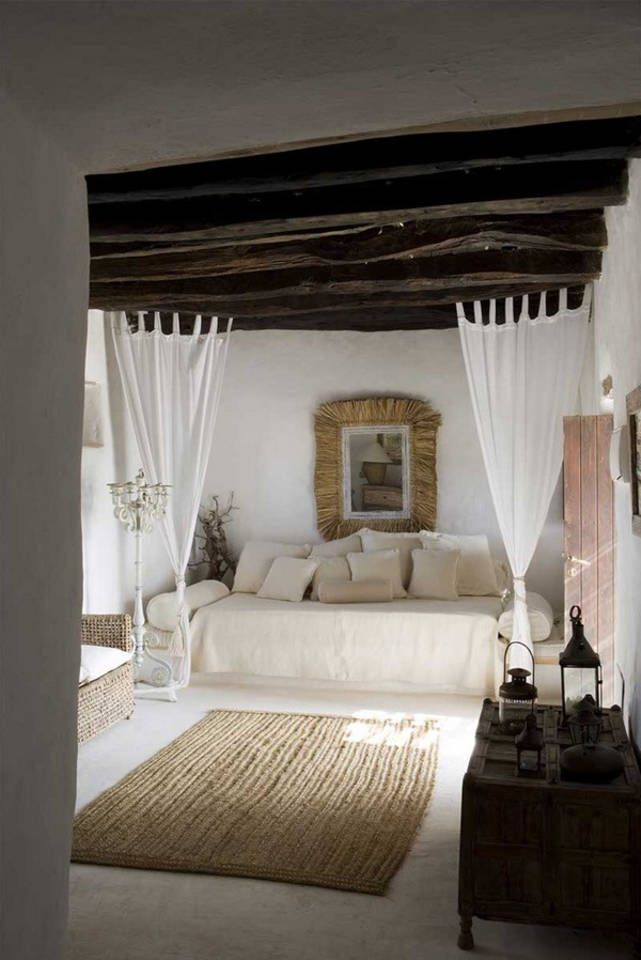Spanish breezy white bedroom