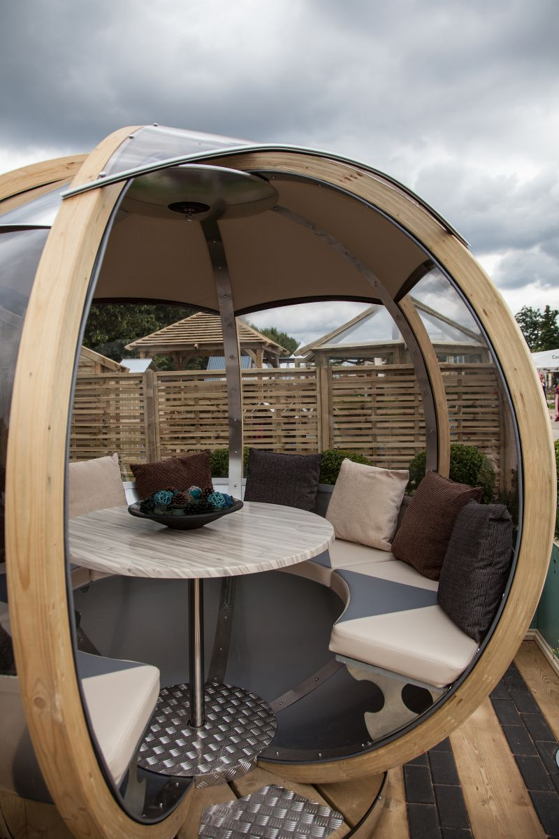 Sphere futuristic garden lounge