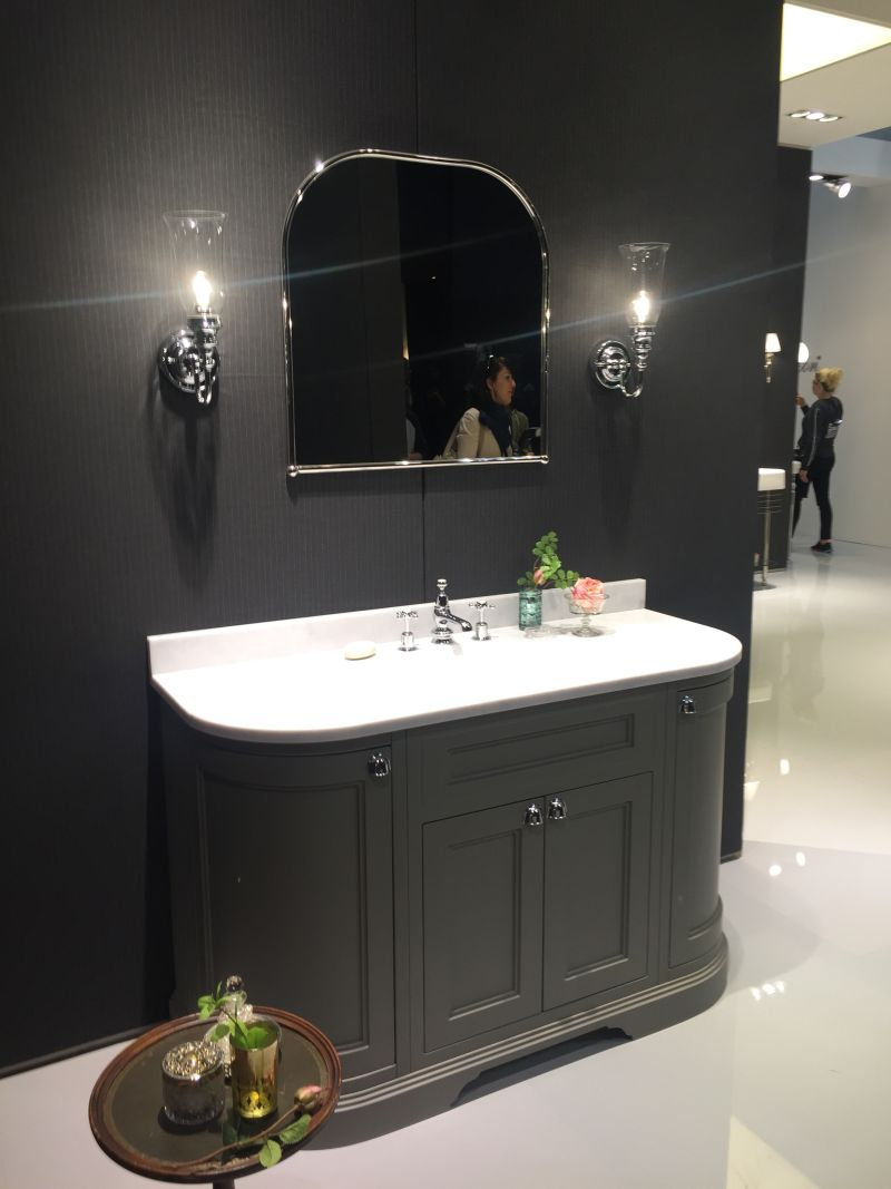 Traditional bathroom vanity in Gray