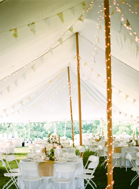 Wedding remote location in a tent