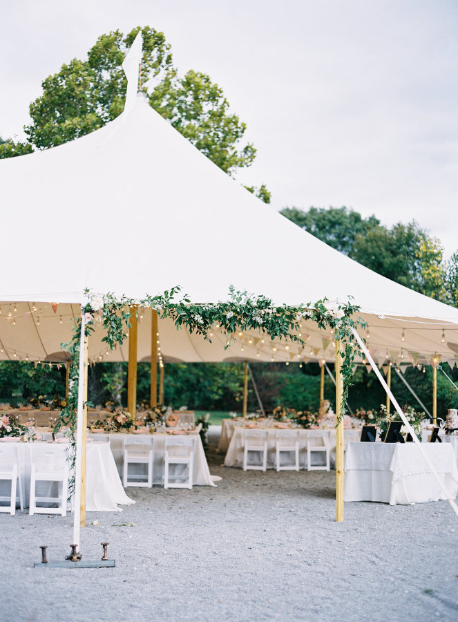 Wedding tents becomes a part from landscape design