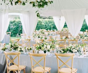White thailand wedding tent
