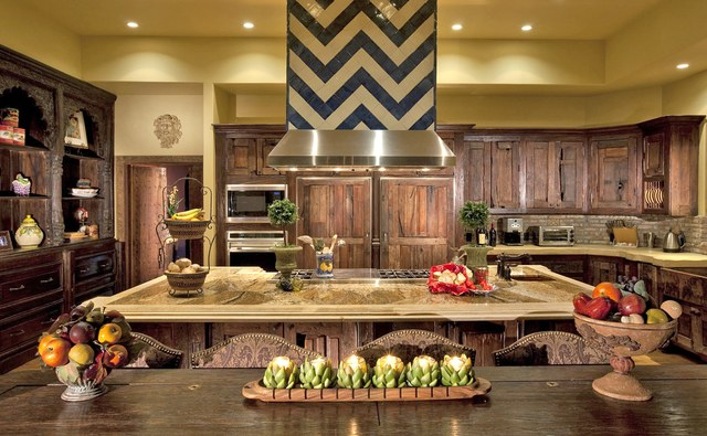 Wood kitchen design for a spanish house
