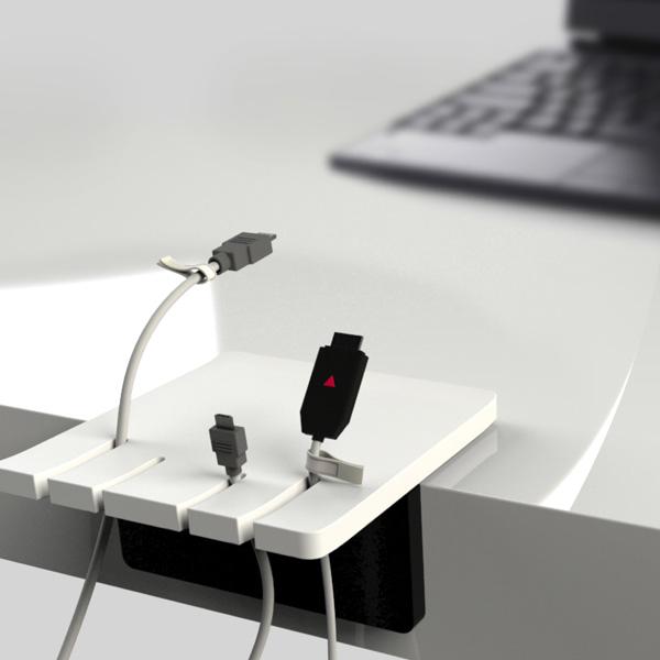 cords finger holder for desk