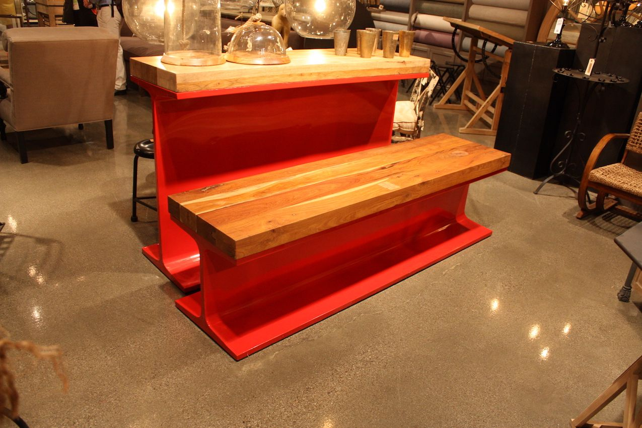 Repurposed items made into new and modern furniture from Bobo.