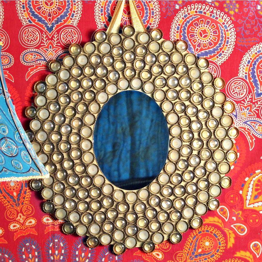 Bottlecap Mirror Design Craft