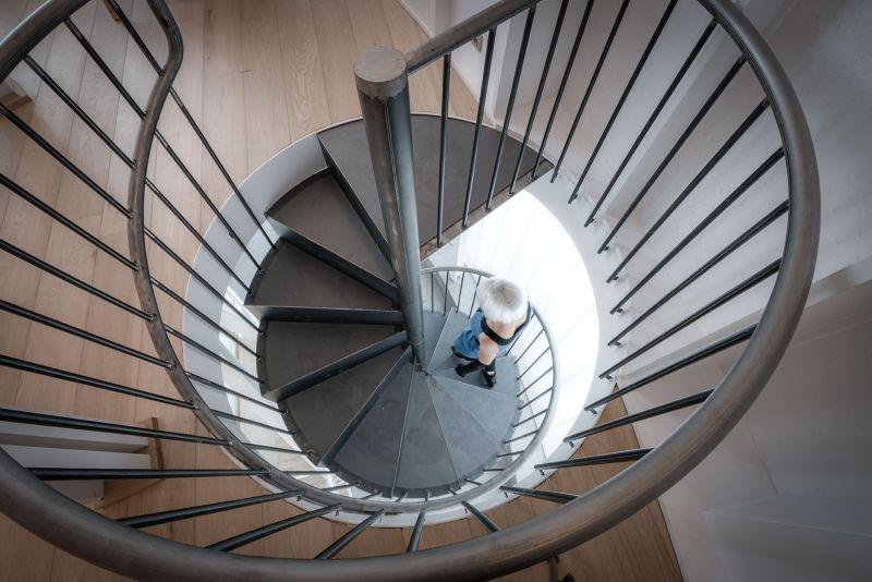 Casa Tobogan spiral staircase