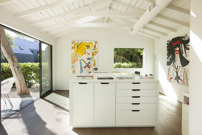 Contemporary Farmhouse Retreat - white painted vaulted