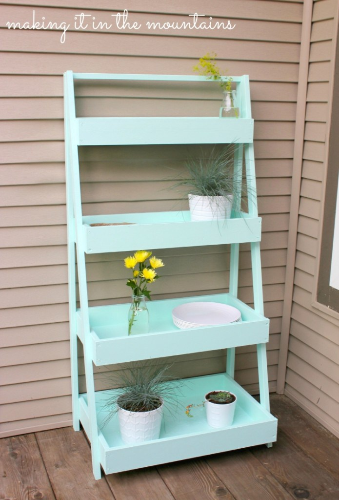 DIY plant stand ladder