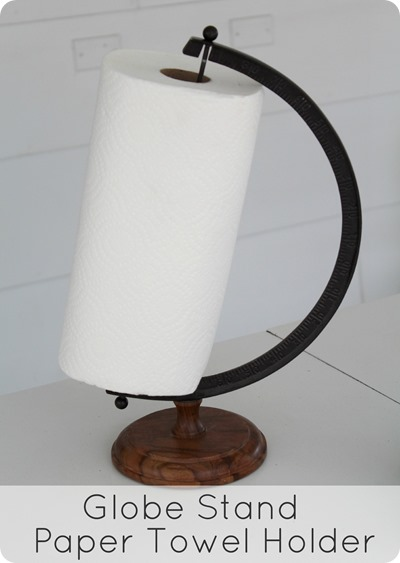 Globe paper towel holder