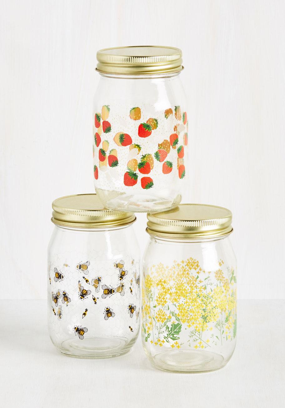 Patterned storage jars