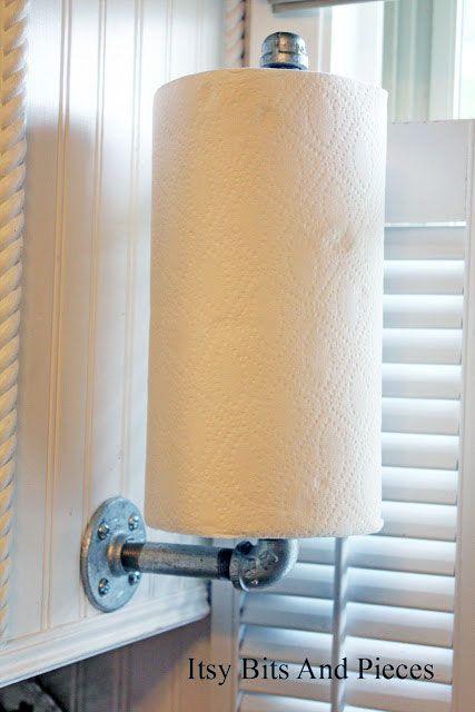 Pipe kitchen towel paper holder