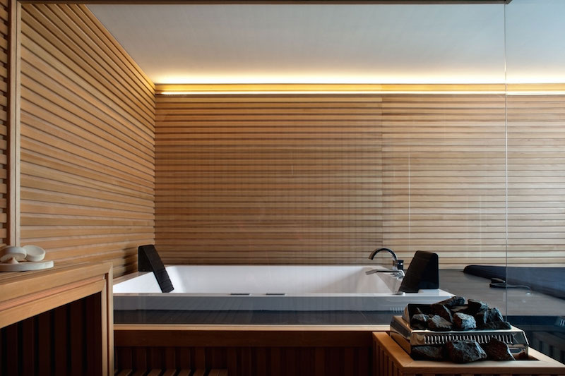 Renovated country house in Lucca sauna walls