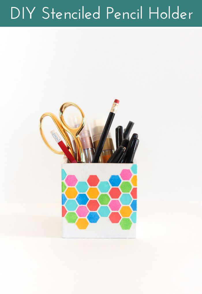 Stencil pencil holder
