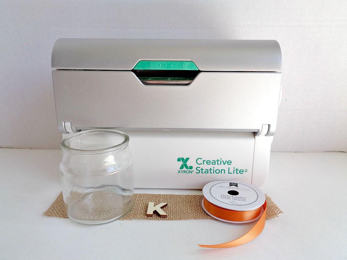 Supplies Monogram Candle Jar