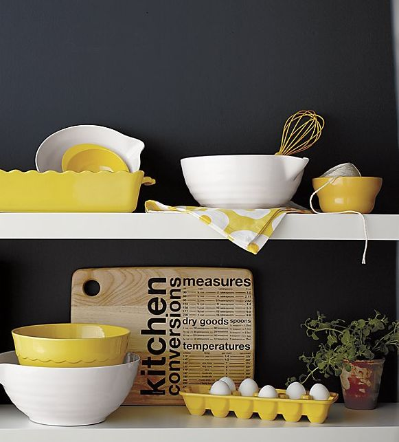 Yellow eggs holder